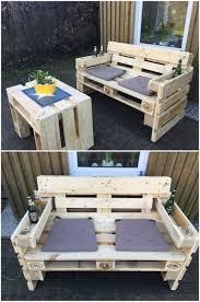 Pallet Patio Furniture Plans by Best 25 Pallet Outdoor Furniture Ideas On Pinterest Diy Pallet