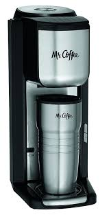 Amazon Mr Coffee Single Cup Maker With Travel Mug And Built In Grinder Kitchen Dining