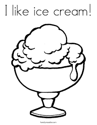 I Like Ice Cream Coloring Page