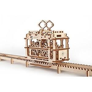 Ugears Tram 3D Mechanical Wooden Model Construction Kit