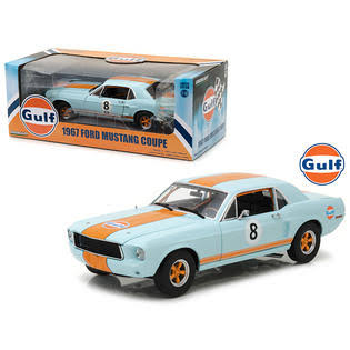 1967 Ford Mustang Coupe Gulf Oil #8 1/18 Diecast Model Car by Greenlight
