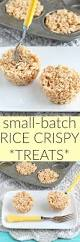 Rice Krispie Christmas Tree Treat Recipe by A Small Batch Of Rice Krispie Treats Make It In A Muffin Pan For