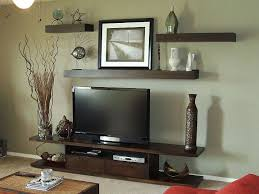 Decorate Flat Screen Tv Wall With Floating Shelves Morespoons