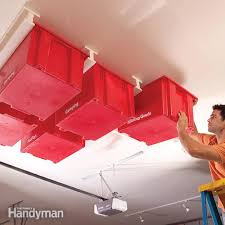 Ceiling Material For Garage by Create A Sliding Storage System On The Garage Ceiling Family