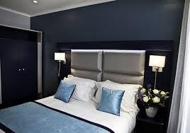 chambre grise et moderne gris et bleu