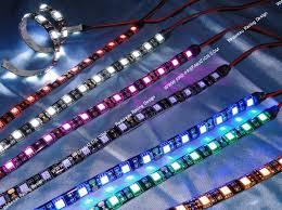 neon pour voiture exterieur bande néon ultra et plate 30cm tun r 18 leds violet