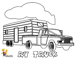 Great Pickup Truck Coloring Pages 71 On Line Drawings With