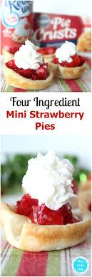 Santa Hat Desserts Mini Strawberry Pies made with Pillsbury Refrigerated Pie Crust and Reddi