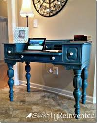 Love This Annie Sloan Chalk Paint Desk But Webpage Also Have Cute Idea For Handles Twist Rope Around To Hide And Give Interesting Look