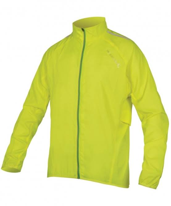 Endura Men's Pakajak II Ultra Packable Windproof Cycling Jacket - Yellow, Large