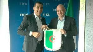 siege de la fifa equipe d algérie zetchi reçu par infantino au siège de la fifa