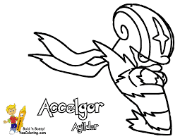 Accelgor Pokemon Black Coloring Page At YesColoring