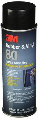 3m 80 rubber and vinyl adhesive spray 24 oz aerosol