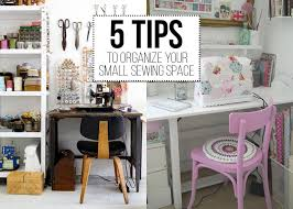 Organize Space Saving Small Sewing Rooms Hanging Materials Storage Leather Seat Wooden
