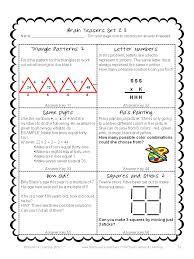 Halloween Brain Teasers Math by Math Task Cards Math Problems And Math Brain Teasers Cards Set C