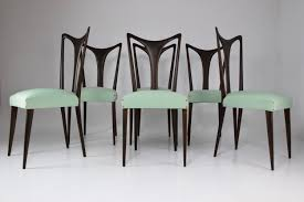 Set Of 6 Italian Vintage Dining Chairs By Guglielmo Ulrich ...