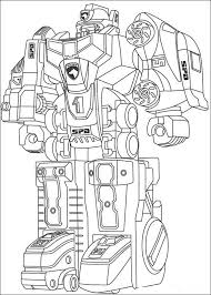 Power Ranger Coloring Pages Robot