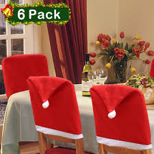 Christmas Chair Back Cover Set Of 6, Santa Clause Red Hat Slipcovers  Kitchen Chair Cap Sets Xmas Decoration For Dinning Room Christmas Banquet  Holiday ... Amazoncom 6 Pcs Santa Claus Chair Cover Christmas Dinner Argstar Wine Red Spandex Slipcover Fniture Protector Your Covers Stretch 8 Ft Rectangular Table 96 Length X 30 Width Height Fitted Tablecloth For Standard Banquet And House 20 Hat Set Everdragon Back Slipcovers Decoration Pcs Ding Room Holiday Decorations Obstal 10 Pcs Living Universal Wedding Party Yellow Xxxl Size Bean Bag Only Without Deisy Dee Low Short Bar Stool C114 Red With Green Trim Momentum Lovewe 6pcs Nordmiex Spendex 4 Pack Removable Wrinkle Stain Resistant Cushion Of Clause Kitchen Cap Sets Xmas Dning
