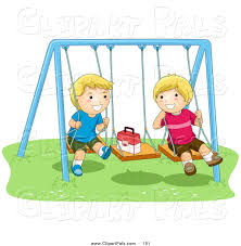 100 Studio 101 Designs Pal Clipart Of A Pair Of Happy Boys Playing On Swings By BNP