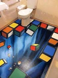 3d tiles for bathroom stereoscopic wallpaper customize flooring