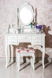 Vanity Mirror Dresser Set by Amazon Com Beautiful White Label Cleopatra Vintage Vanity Table