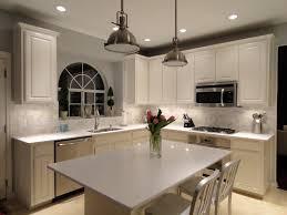 kitchen snow white quartz countertop on painted cabinets