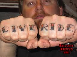 LIVE RIDE KnuckleTattoos