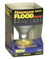 Satco S4503 Satco Light Bulbs 100BR40 FL HAL Halogen Reflector