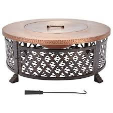Home Decorators Collection Home Depot by Home Decorators Collection 40 In Lattice Fire Pit Table In Copper