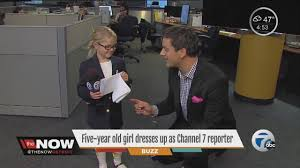 Little Girl Wears Channel 7 Reporter Costume