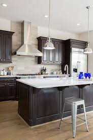 Dark Brown Cabinets Kitchen Design Ideas Modern Simple Under House Decorating