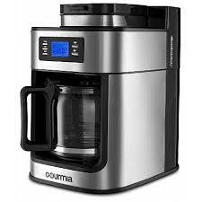 Gourmia GCM4700 Coffee Maker With Built In Grinder Programmable 10 Cup Automatic Drip Glass