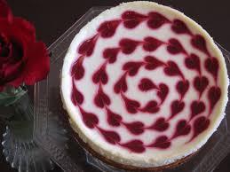 Raspberry Heart Swirl Cheesecake