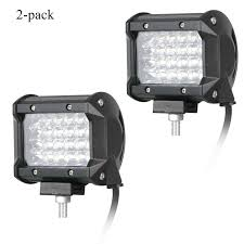 100 Truck Spot Light 2Pack 120W Quad Row Light Offroad LED Work Driving Fog