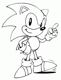 Ipad Coloring Sonic The Hedgehog Pages To Print New At Super Az