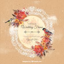 cadre photo mariage gratuit cadre de mariage d ornement avec des fleurs et des oiseaux