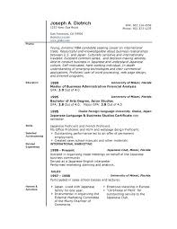 Resume Format Template For Word Examples Of Resumes Templates Free Download Image Gallery