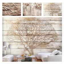 details zu vlies fototapete blumen baum home holz effekt tapete wandbilder wohnzimmer