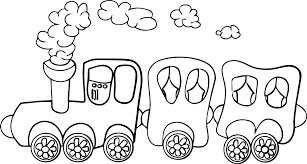 Perfect Coloring Page Train 3