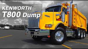 100 Kenworth Dump Truck For Sale NEW Yellow T800 TriAxle