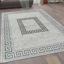 wohnzimmer teppich kurzflor mit bordüre und real de