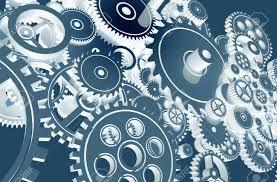 100 Cool Blue Design Gears Technology Gears Background