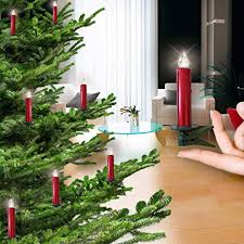 ALDDN 24Pcs Flameless Electric LED Candles Clip On Christmas Tree Lights Battery Operated