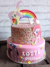 My Little Pony cake with sprinkles