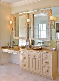 3 Piece Framed Bathroom Traditional With Faucet Mounted On Wall Sconces