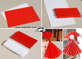 You Will Need An A4 Sheet Of Paper Make Accordion Fold Parallel To The Shorter Side Cinch In Middle With A Piece Sticky Tape And Open On Both