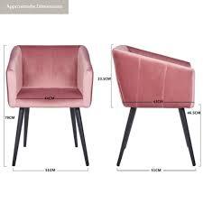 chairs esszimmerstuhl armlehnstuhl stoff samt rosa pink