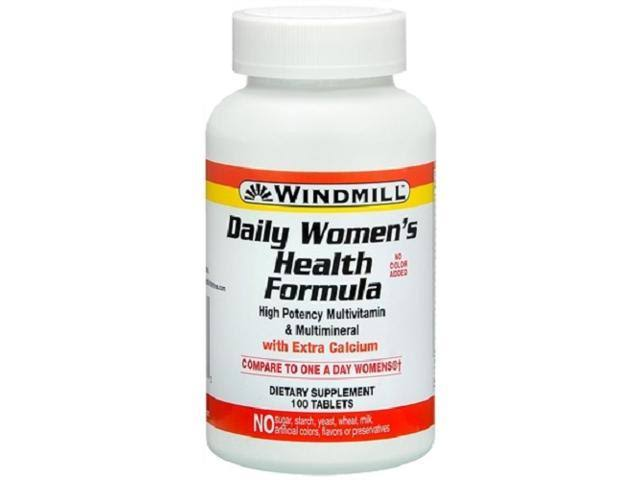 Windmill Health Formula Daily High Potency Women's Multi Vitamin Supplement - 100 Tablets