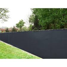 Aleko 4' X 50' Black Fence Privacy Screen Outdoor Backyard Fencing ... 75 Fence Designs Styles Patterns Tops Materials And Ideas Patio Privacy Apartment Backyard 27 Cheap Diy For Your Garden Articles With Tag Fabulous Example Of The Fence Raised By Mounting It On A Wall Privacy Post Dog Eared Cypress W French Gothic 59 Diy A Budget Round Decor En Extension Plans Lawrahetcom