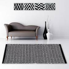 teppich läufer bettvorleger wohnzimmer bad badezimmer dekoration schwarz weiß